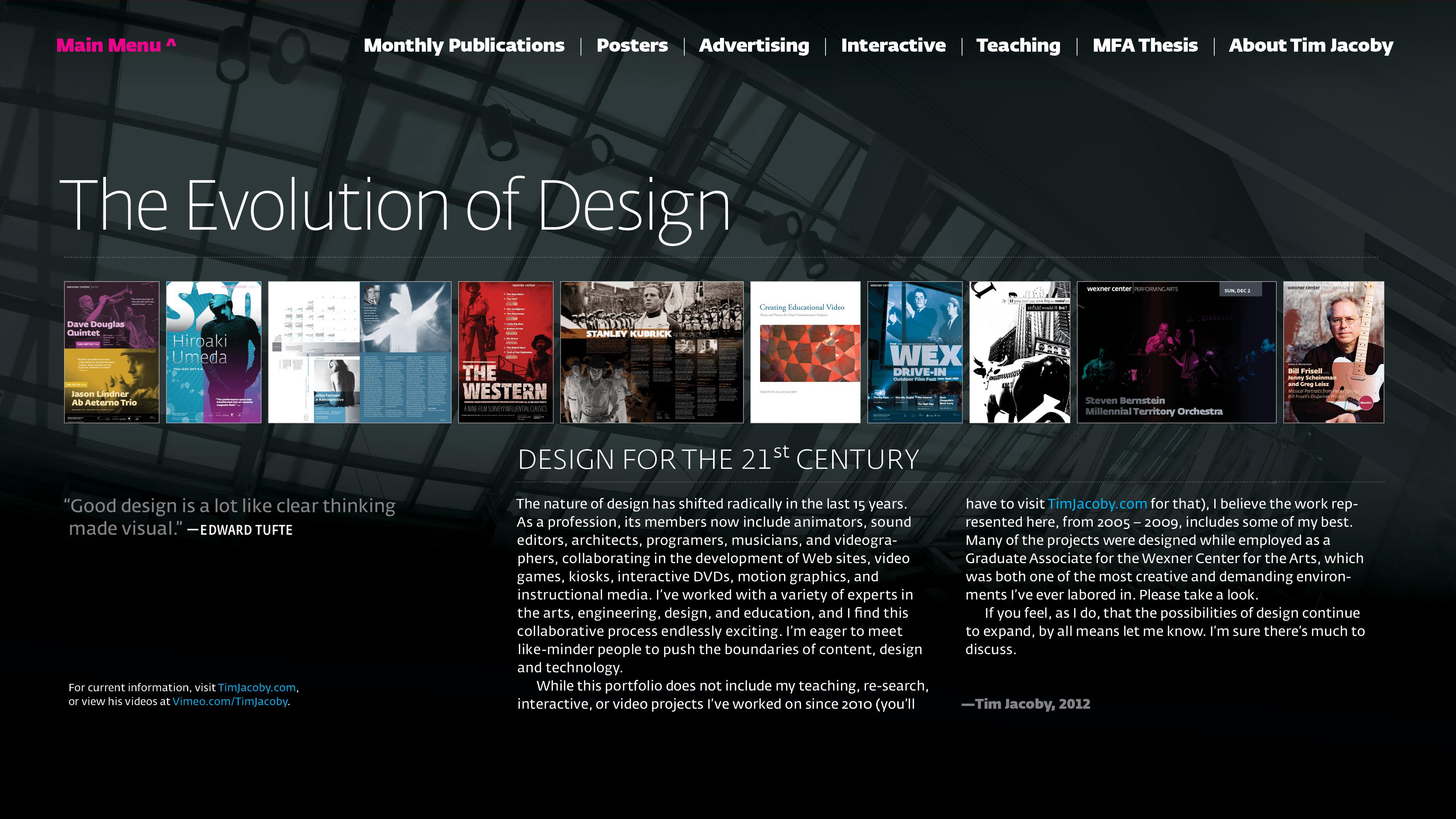 Timothy Jacoby Interactive PDF Portfolio