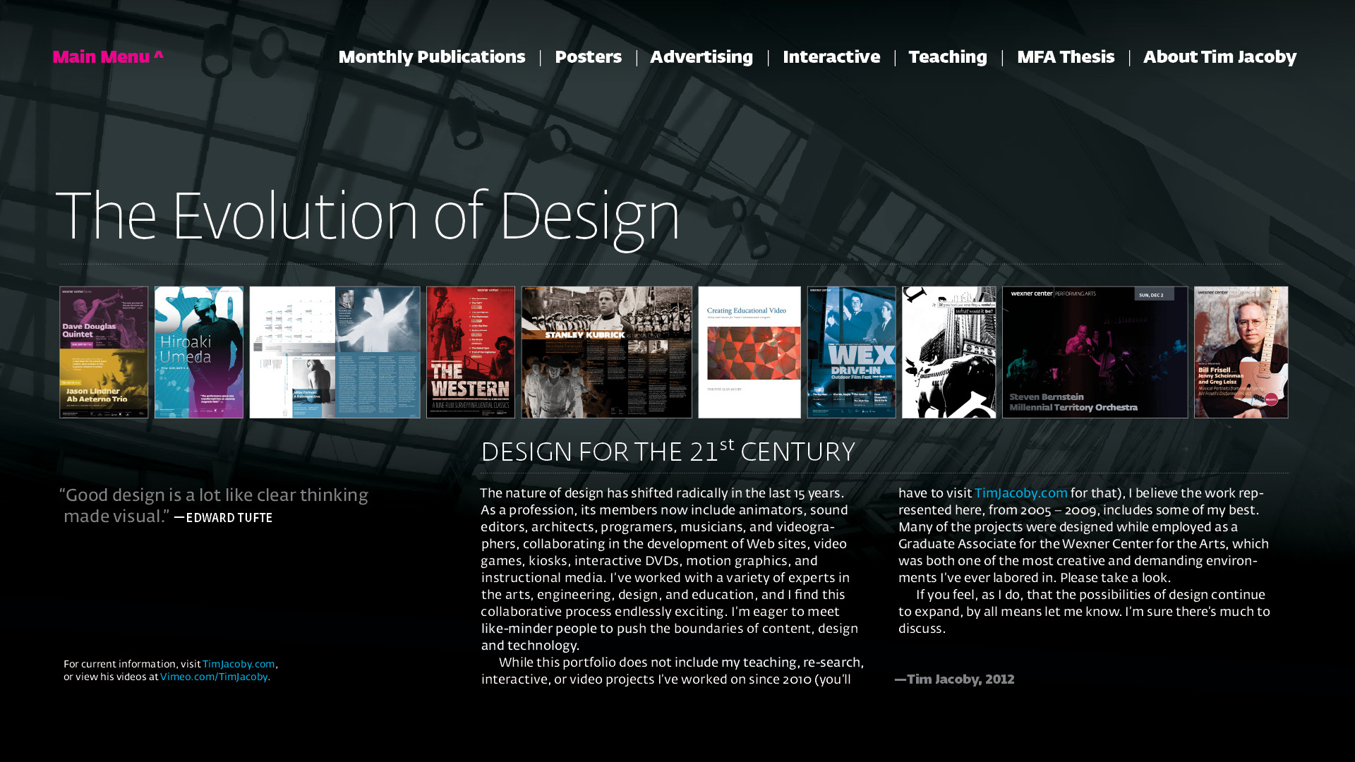 Lieblings Interactive PDF Portfolio | Tim Jacoby: Multimedia Designer and @FQ_88
